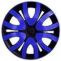 RKK10 Multi-Color Line Schwarz/Blau Radkappen / Radzierblenden 4 Stück