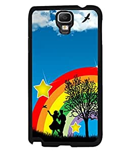 printtech Rainbow Couple Stars Sky Back Case Cover for Samsung Galaxy Note 3 Neo N7505