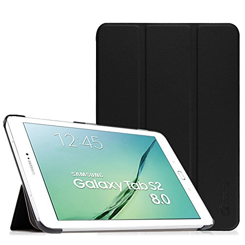 Fintie Hülle für Samsung Galaxy Tab S2 8.0 T710 / T715 / T719 (8 Zoll) Tablet-PC - Ultra Schlank Superleicht Ständer SlimShell Cover Schutzhülle mit Auto Schlaf/Wach Funktion, Schwarz