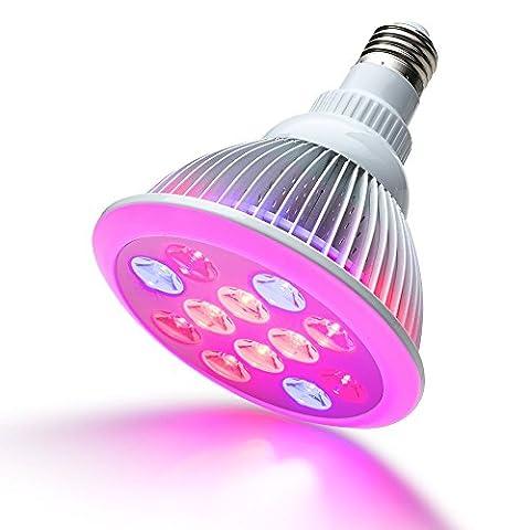 AGPTEK® Lampe horticole Lampe de Plante Lumin / Lampe de Croissance / Lampe de Culture E27 12W Ampoule à LED pour Culture Hydroponique - 3Bleu+9Rouge