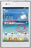 LG P895 Optimus Vu Smartphone mit Stylus (12,7 cm (5 Zoll) Touchscreen, QuadCore, 1,5GHz, 8 Megapixel Kamera, Android 4.0) weiß