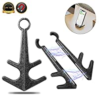 Cell Phone Stand for Phones and Tablets, Portable universal Cell Phone Holder for Desk, Innovation Retro Anchor Strong Magnetic Adsorption Cell Phone Stand, Zinc Alloy Lazy Smartphones Stand