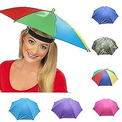Malloom Novedad Plegable Paraguas Cabeza