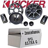 Opel Astra G - Kicker KS50.2 - 13cm Lautsprecher Boxen System - Einbauset