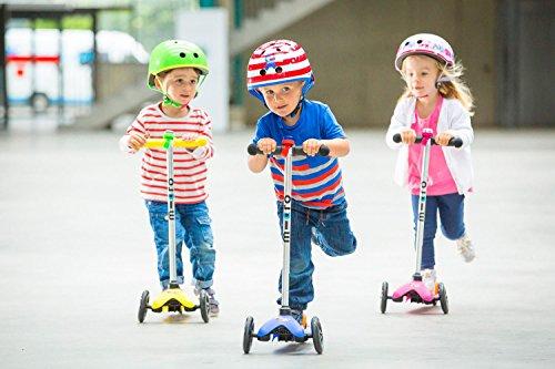 Mini Micro Kinderroller Sporty Kickboard in Blau -