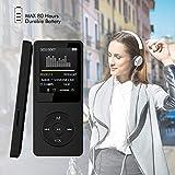 Malloom 2018 Moda Portable MP3 MP4 Player Pantalla LCD FM Radio Videojuegos Película (Negro)