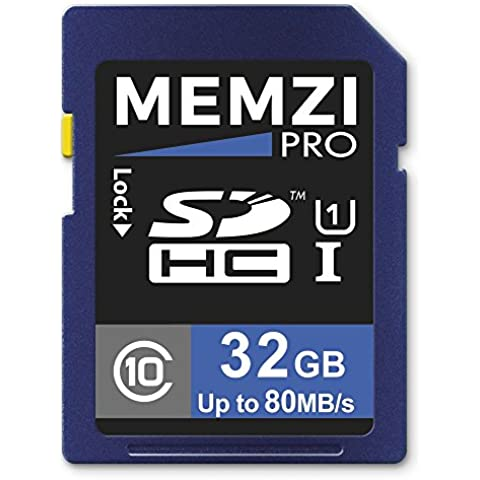 Memzi Pro 32GB Classe 1080MB/s scheda di memoria SDHC per