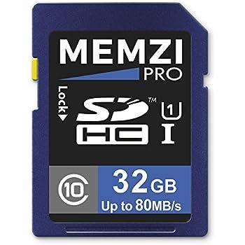 Memzi Pro 32GB Clase 10 80MB/s tarjeta de memoria SDHC para ...