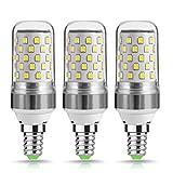 TECHGOMADE 9W E14 LED Kerze Lampen, 80Watt Glühlampe äquivalent, Kaltweiß 6000K, Nicht Dimmbar, 1000lm, Kleine Edison Schraube Kerze Glühbirnen, 220-240V AC, 3er Pack