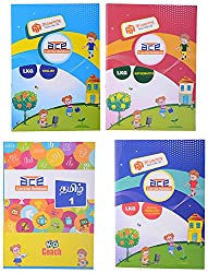 LKG ACE 340 Pages All-in-One Worksheets [English, Mathematics, GK(EVS), Colouring and Tamil] Combo