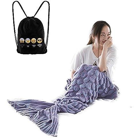 Sirena coda coperta, morbido e caldo letto divano sacco a