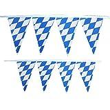 Oktoberfest Bekleidung für Damen und Herren, Malloom 10m Seppelhut Oktoberfest Bayern blau weiß Karneval Flagge 30 Seiten String Flag