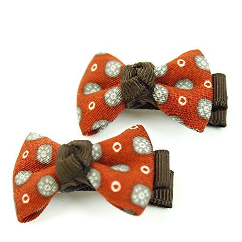 rougecaramel - Accessoires cheveux - Pince cheveux enfant 2pcs motif fantaisie - marron rouille