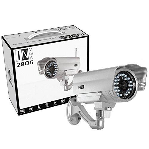 INSTAR IN-2905 V2 - Cámara IP WiFi (detección de movimiento, alarma audio de entrada y salida, visión nocturna por IR, resistente a la intemperie), color