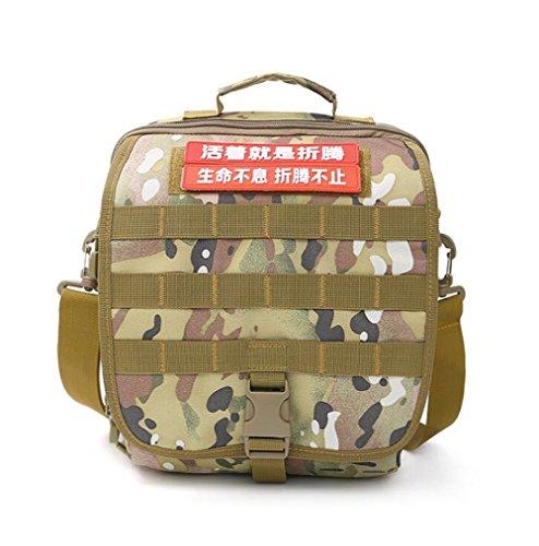 Wmshpeds Impermeabili per esterno camouflage pacchetto tattico militare maschio ventola borsa sportiva borsa a tracolla messenger bag multi-funzione B