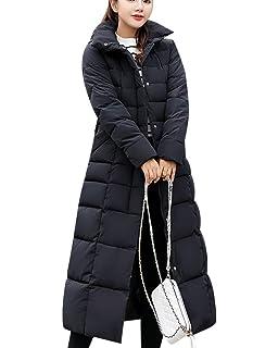 341c2ae522a426 Damen Kapuzenjacke Lange Daunenjacke Outwear Warm Daunenmantel Beiläufigen  Dickeren Mantel