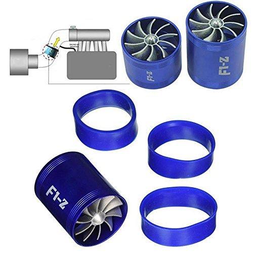 F1-Z double Turbine Turbo chargeur d'admission d'air gaz Fuel Saver Fan de voiture Supercharger