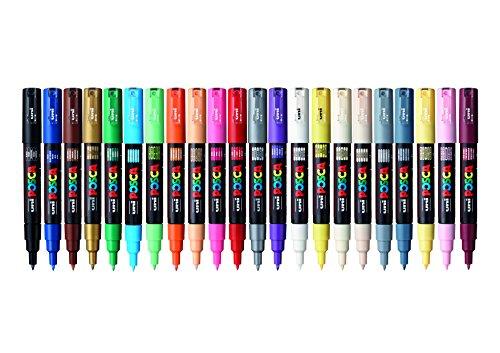 Posca 153544865 - Pack de 22 rotuladores de pintura al agua, multicolor