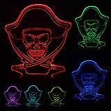 Nouveau Nouveauté Populaire Pirates Des Caraïbes 3D Lampe Led Veilleuse Colorée Atmosphère Ambiance Lampe Ami Enfant Enfant Cadeaux De Noël, Contrôle Tactile
