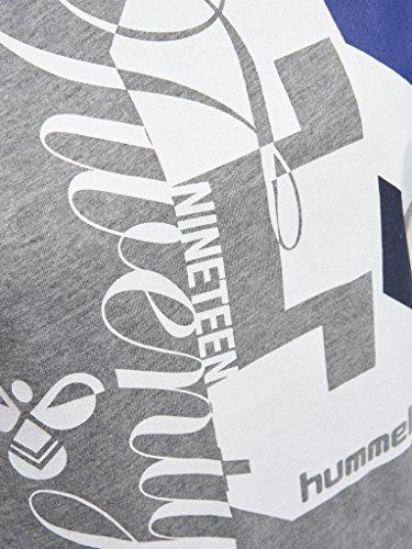 Hummel T-Shirt Damen mit Aufdruck - QUINTESS SS TEE - Rundhals Shirt Kurzarm - Print TShirt Baumwolle - Printshirt Sport & Freizeit - Sportshirt div. Farben Medium Melange