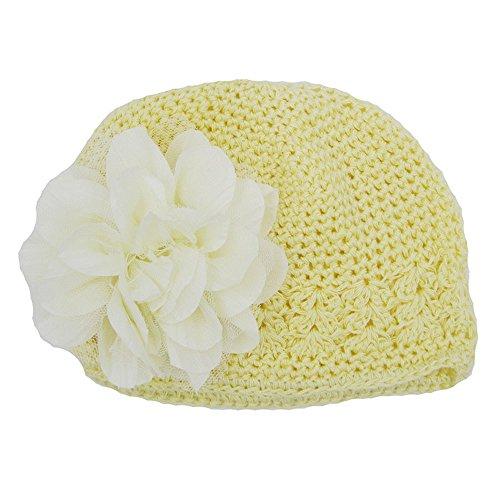 URSING Babymützen Kleinkinder Baby Mädchen Mode Blumenhut Aushöhlen Stricken Hut Kopfbedeckung Strickmütze Headwear übergangsmütze Baumwollmütze Häkelmütze - Minion Kostüm Für 1 Jahr Alt