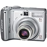 Canon PowerShot A560 Digitalkamera (7 Megapixel, 4-fach opt. Zoom, 6,4 cm (2,5 Zoll) Display) silber