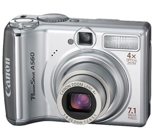 Canon PowerShot A560 Digitalkamera (7 MP, 4-fach opt. Zoom, 6,4cm (2,5 Zoll) Display) silber Secure Digital Sd Card Lcd