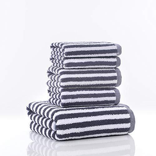 CXBHB Handtuch aus Reiner Baumwolle, einfache Zebra-Linie, für Erwachsene, zur Verdickung, weich, saugfähig, 70 x 140 cm