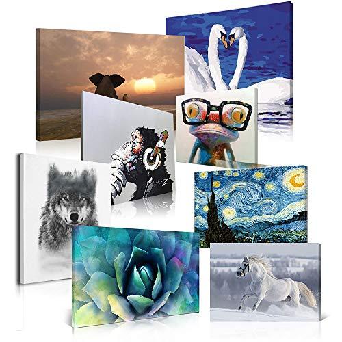 Hianiquaime quadro in tela personalizzata con le tue foto stampa artistica in hd montato su telaio in legno foto in tela decorazione murale per camera da letto soggiorno pronto da appender