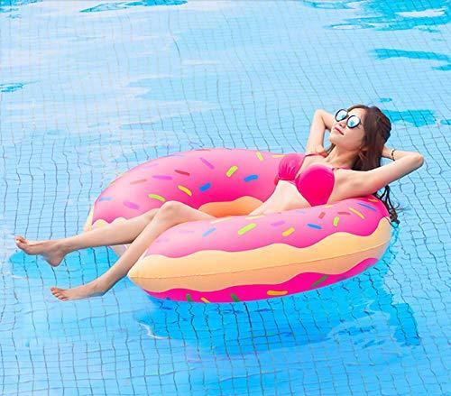 SKYTEARS Flotador Gigante Donut Hinchable para Buñuelo Piscina (D)