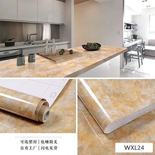 Rot Rustikal Esstisch (lsaiyy Imitation Marmor Muster Aufkleber wasserdicht Selbstklebende Tapete Küche Öl Tisch Esstisch Schranktür Renovierung Tapete tile-60CMX5M)