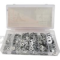 Suyizn en métal Rondelle plate Assortiment kit (900pcs, 6size) M3, M4, M5, M6, M8, M10/Zk186