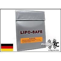 molinoRC Lipo Tasche 18x22 cm feuerfest Akku Sicherheitstasche Feuer Sicherheit Safe Brandschutztasche Safebag