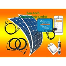 200Watt Wohnmobil Solar-Set, flexibles Solarmodul Victron Laderegler bluotooth von bau-tech Solarenergie GmbH