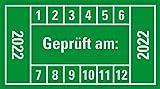 LEMAX® Prüfplakette gepr.DGUV Vor.3 Nä.Prüf,22-27,grün,Dokufolie,Ø 30mm,18/Bogen