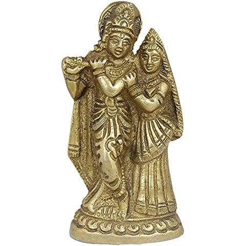 hermosa escultura de bronce - Krishna y Radha estatua - símbolo del amor del regalo de cumpleaños - krishna -5.1 x 2,3 x 10,2 cm