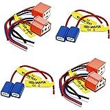LED-Mafia 2x LAMPENFASSUNG - H1 H3 H4 Fassung Stecker Kabel (2x H4)