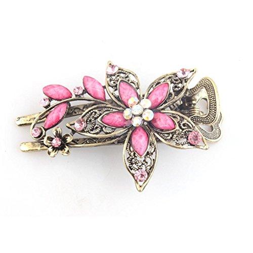 Zolimx Haar Klammern Vintage Schmuck Kristall Haarnadeln für Haar Clip Tools (Rosa) (Voile-kleid Rosa)