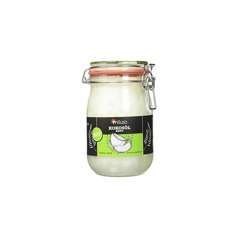 Mituso Bio Kokosl Nativ 2er Pack 2 X 1000 Ml Im Bgelglas
