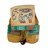 The House Of Tara Canvas Printed Flaps Backpack (Desert Sand)
