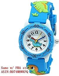 Mixe Waterproof 3D Cute Cartoon Digital Silicone Wristwatches Time Teacher Gift for Little Girls Boys Kids Children ME259