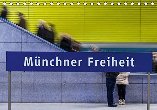 U-Bahn in München (Tischkalender 2020 DIN A5 quer): U-Bahnhöfe strahlen eine Faszination aus, vor Allem wenn alle anders gestaltet sind. (Monatskalender, 14 Seiten ) (CALVENDO Orte)