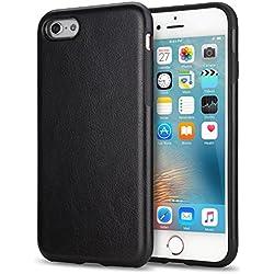 TENDLIN Coque iPhone 6s Cuir et Flexible TPU Silicone Hybride Souple Housse Etui pour iPhone 6 et iPhone 6s (Noir)