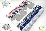 Babydecke für Jungen in Blau/Grau/Rot, Kuscheldecke, Patchworkdecke, auch als Set mit Schmusetuch von ❤️ bab Berlin ❤️
