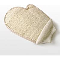 Loofah guante exfoliante guante de baño esponja ducha Loofah masaje corporal depurador guante