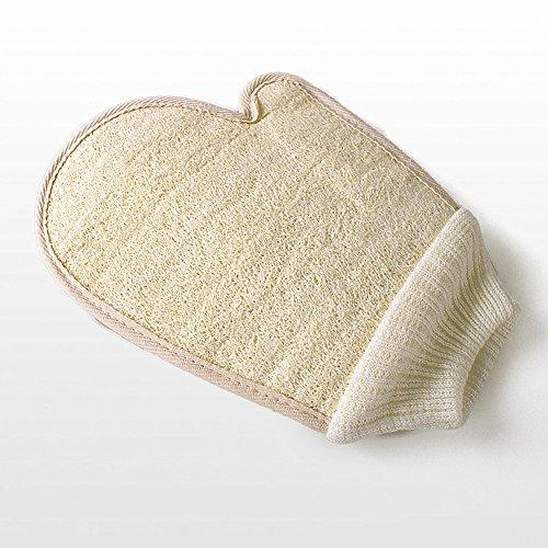 Luffa Handschuh Peeling Handschuh Badeschwamm Dusche Loofah Körper Massage Scrubber Handschuh