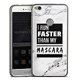 DeinDesign Huawei P8 Lite 2017 Slim Case transparent anthrazit Silikon Hülle Schutzhülle Mascara Beauty Statement