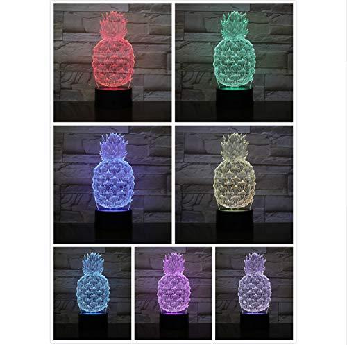 sch 3D Lampe USB Touch Sensor RBG Neuheit Beleuchtung Kind Kinder Baby Gadget Obst Led Nachtlicht ()