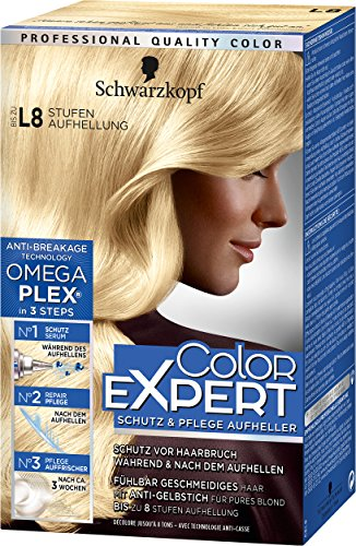 Color Expert Intensiv-Pflege Color-Creme L8 Extrem Aufheller Stufe 3, 3er Pack (3 x 172 ml)