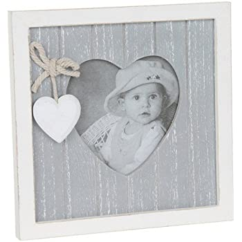 Provence Grey Wooden Heart Frame - Takes 3\